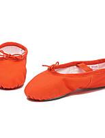 abordables -Fille Chaussures de Ballet Toile Plate / Basket Talon Plat Chaussures de danse Rouge / Bleu / Rose