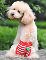cheap -Dogs / Cats Pants Dog Clothes Striped / Fruit White / Red / Blue Cotton Costume For Pets Female Sweet Style / Unique Design