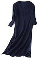 Недорогие -женский выезд свитер платье midi v шея