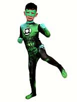 abordables -Collants / Costumes zentai à motifs / Costume de Cosplay Superhéros Costume Zentai Costumes de Cosplay Vert Imprimé Masque Boas et Plumes / Elastique Unisexe Noël / Halloween / Carnaval