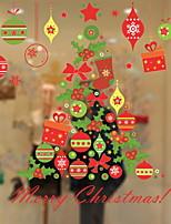 Недорогие -Оконная пленка и наклейки Украшение Современный / Рождество Праздник ПВХ Cool