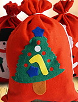 Недорогие -Подарочные мешки Праздник Ткань Прямоугольный Оригинальные Рождественские украшения