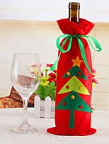 Недорогие -Мешки для вина / Рождество Праздник Ткань Прямоугольный Оригинальные Рождественские украшения