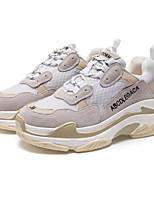 Недорогие -Жен. Комфортная обувь Замша / Кожа Осень Кеды На плоской подошве Квадратный носок Черный / Желтый / Зеленый