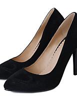 Недорогие -Жен. Комфортная обувь Замша Весна Обувь на каблуках На шпильке Черный / Военно-зеленный / Верблюжий