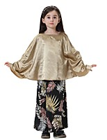 cheap -Kids Girls' Boho Print Long Sleeve Long Clothing Set