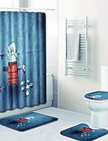 Недорогие -Мультяшная тематика Коврики для ванны 100 г / м2 полиэфирный стреч-трикотаж Креатив нерегулярный Новый дизайн