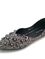 Недорогие -Жен. Комфортная обувь Полиуретан Осень На плокой подошве На плоской подошве Заостренный носок Серый / Зеленый