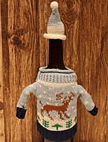 Недорогие -Мешки для вина Новогодняя тематика / Праздник текстильный куб Оригинальные Рождественские украшения