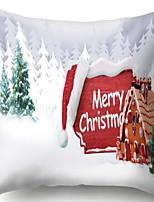 Недорогие -Наволочка Новогодняя тематика Фланелет Квадратный Оригинальные Рождественские украшения