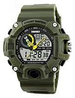 Недорогие -Муж. электронные часы Цифровой Календарь Секундомер Pезина Группа Аналого-цифровые На каждый день Черный / Зеленый - Красный Зеленый Синий