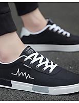 Недорогие -Муж. Комфортная обувь Полотно Весна На каждый день Кеды Серый / Черно-белый / Черный / Красный