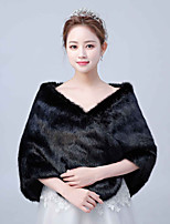 cheap -Sleeveless Faux Fur Wedding / Party / Evening Women's Wrap With Solid Shawls