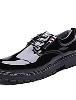 Недорогие -Муж. Официальная обувь Полиуретан Осень Классика / Английский Туфли на шнуровке Массаж Черный / Свадьба