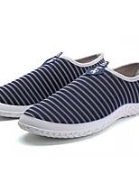 Недорогие -Муж. Комфортная обувь Хлопок Лето На каждый день Мокасины и Свитер Дышащий Белый / Черный / Синий