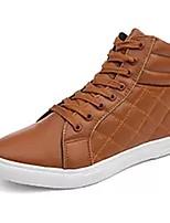 Недорогие -Муж. Комфортная обувь Полиуретан Осень Кеды Черный / Коричневый / Синий