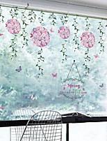 Недорогие -Оконная пленка и наклейки Украшение Современный / Обычные Цветы / Праздник ПВХ Стикер на окна / Милый / Гостинная