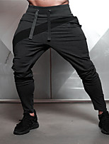 cheap -Men's Pocket / Drawstring Jogger Pants / Running Pants - Black, Grey Sports Color Block Pants / Trousers Fitness, Gym, Workout Activewear Anatomic Design, Wearable, Sweat-wicking Stretchy Slim