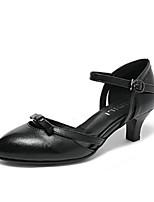 abordables -Femme Escarpins Cuir Nappa Eté Chaussures à Talons Block Heel Noir / Beige / Chameau