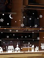 Недорогие -Оконная пленка и наклейки Украшение Современный / Панорама города Цветы / Персонажи ПВХ Стикер на окна