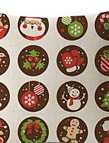economico -Copricuscino / Natale Natale / Vacanza Poliestere Rettangolare Feste / Originale Decorazione natalizia
