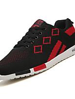 Недорогие -Муж. Комфортная обувь Сетка / Эластичная ткань Осень На каждый день Кеды Нескользкий Контрастных цветов Черно-белый / Черный / Красный / Черный / синий