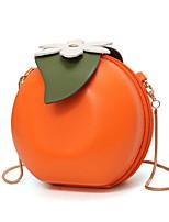 Недорогие -Жен. Мешки PU Сумка Цветы Цветочный принт Оранжевый