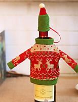 baratos -Sacos e Transportadores de Vinho Férias Poliéster Rectângular Novidades Decoração de Natal