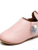 Недорогие -Девочки Обувь Полиуретан Наступила зима Детская праздничная обувь На плокой подошве для Дети Бежевый / Серый / Светло-Розовый