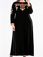 cheap -Women's Street chic Little Black Dress - Floral