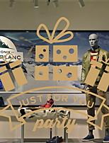 Недорогие -Оконная пленка и наклейки Украшение Рождество Праздник ПВХ Новый дизайн / Cool / Магазин / Кафе