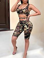 economico -Per donna Essenziale Tute - Collage / Con stampe, Camouflage
