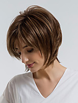 cheap -Synthetic Wig Straight Pixie Cut Synthetic Hair 10 inch Natural Hairline Brown Wig Women's Short Capless Brown / Yes