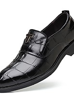 cheap -Men's Formal Shoes Faux Leather Fall Loafers & Slip-Ons Black / Brown