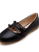 Недорогие -Жен. Комфортная обувь Полиуретан Весна На плокой подошве На низком каблуке Белый / Черный / Розовый и белый