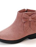 Недорогие -Девочки Обувь Замша Наступила зима Ботильоны Ботинки Для прогулок Цепочки для Дети Розовый / Винный / Хаки