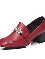 abordables -Femme Chaussures de confort Polyuréthane Printemps été Chaussures à Talons Block Heel Noir / Vert Véronèse / Rouge