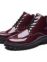 Недорогие -Муж. Комфортная обувь Полиуретан Осень На каждый день Туфли на шнуровке Дышащий Черный / Винный