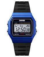 Недорогие -SKMEI Муж. Спортивные часы Армейские часы Цифровой 50 m Будильник Календарь Секундомер PU Группа Цифровой На каждый день Мода Черный - Синий Золотистый Черный / Белый Один год Срок службы батареи