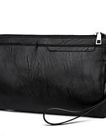cheap -Men's Bags PU(Polyurethane) Clutch Zipper Black