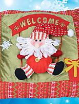baratos -Cobertura de Almofada / Enfeites de Natal Natal / Férias Tecido de Algodão Rectângular Novidades Decoração de Natal