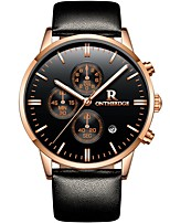 Недорогие -ontheedge Муж. Спортивные часы Наручные часы Японский Японский кварц 30 m Защита от влаги Календарь Cool Кожа Группа Аналоговый На каждый день Мода Черный -