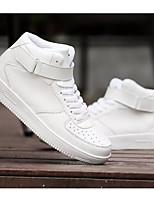 Недорогие -Муж. Комфортная обувь Полиуретан Весна & осень Кеды Белый / Черный / Черно-белый
