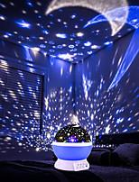 Недорогие -BRELONG® 1шт Небесный проектор NightLight Поменять Аккумуляторы AAA / USB День рождения / Украшение / Атмосферная лампа 5 V