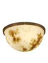 abordables -QIHengZhaoMing Montage du flux Lumière d'ambiance Laiton Métal Marbre 110-120V / 220-240V Blanc Crème Source lumineuse de LED incluse