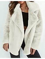 Недорогие -Жен. Пальто с мехом Активный - Однотонный