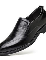 Недорогие -Муж. Официальная обувь Искусственная кожа Осень Мокасины и Свитер Черный / Коричневый