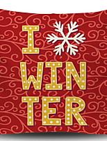 Недорогие -Наволочки Новогодняя тематика Полиэстер Прямоугольный Для вечеринок / Оригинальные Рождественские украшения