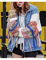 Недорогие -Жен. На выход Куртка Контрастных цветов