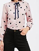baratos -Mulheres Blusa Básico Geométrica